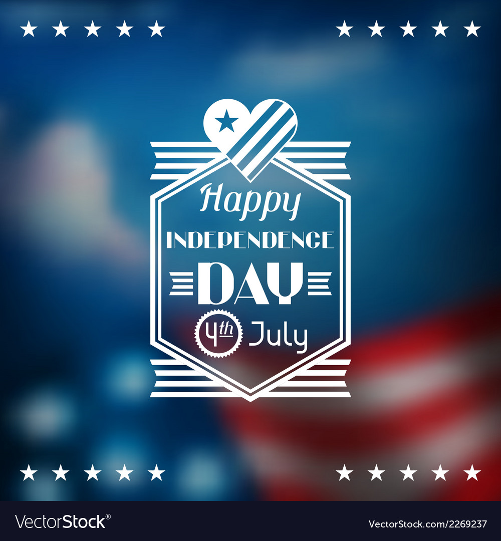 United states of america independence day greeting vector | Price: 1 Credit (USD $1)