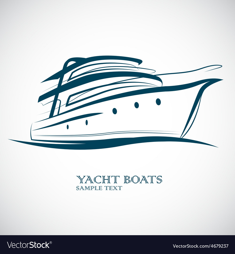 Yacht boat vector | Price: 1 Credit (USD $1)