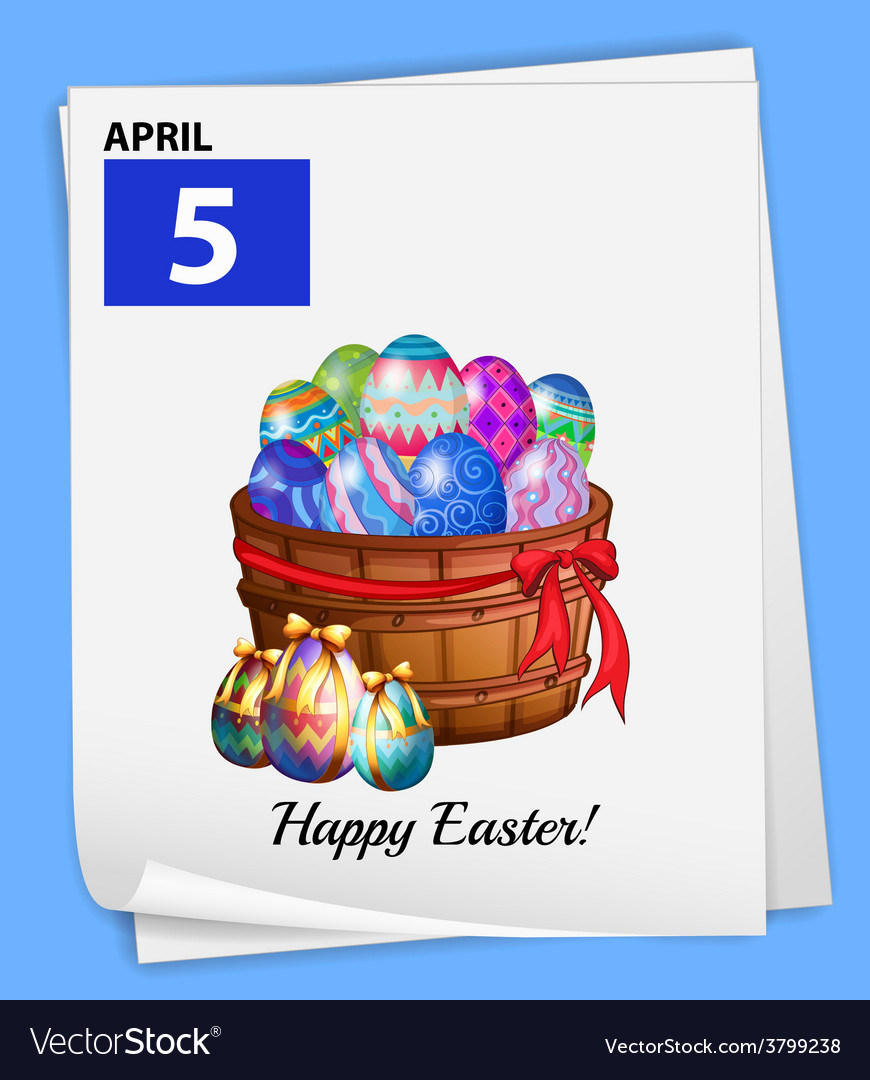 A poster showing the 5th of april vector | Price: 1 Credit (USD $1)
