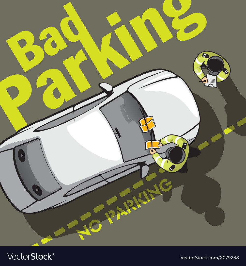 Bad parking eight vector | Price: 1 Credit (USD $1)