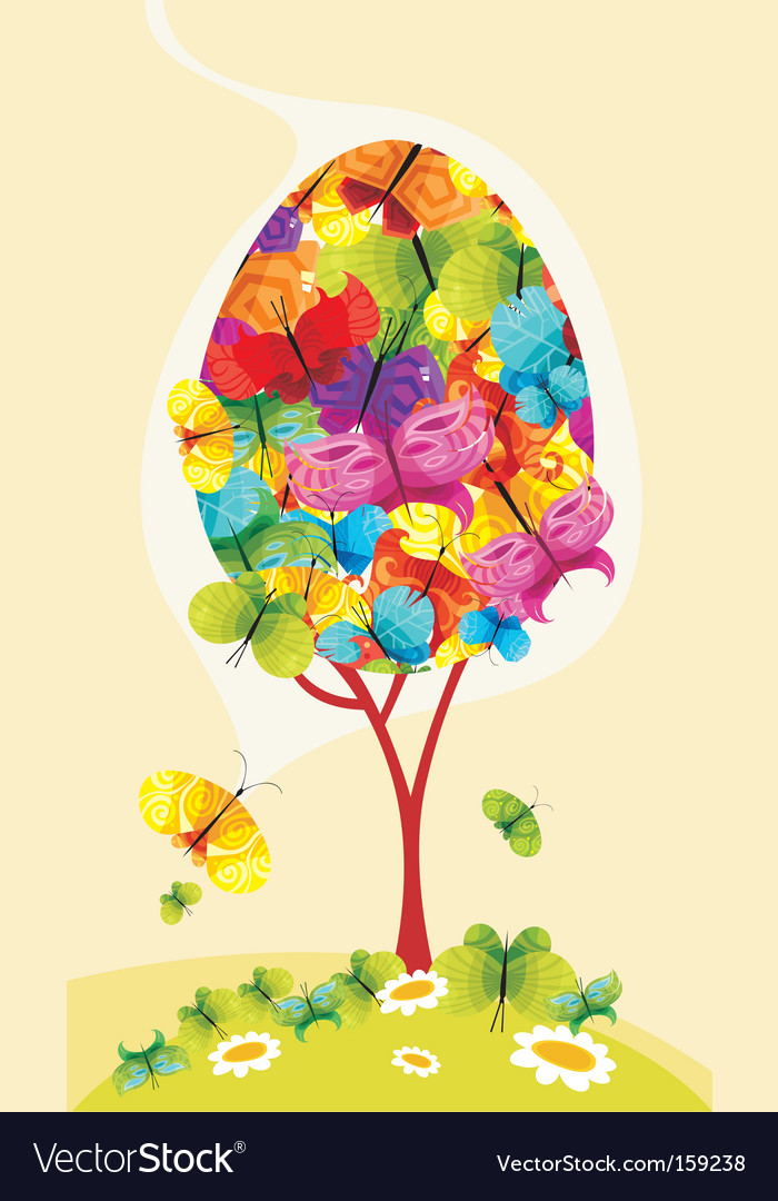 Butterfly tree vector | Price: 1 Credit (USD $1)