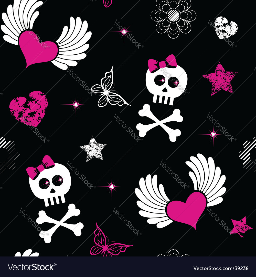 Emo symbols background vector | Price: 1 Credit (USD $1)