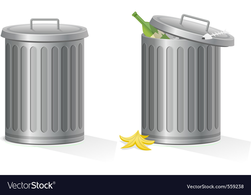 Empty and full refuse bin vector | Price: 1 Credit (USD $1)