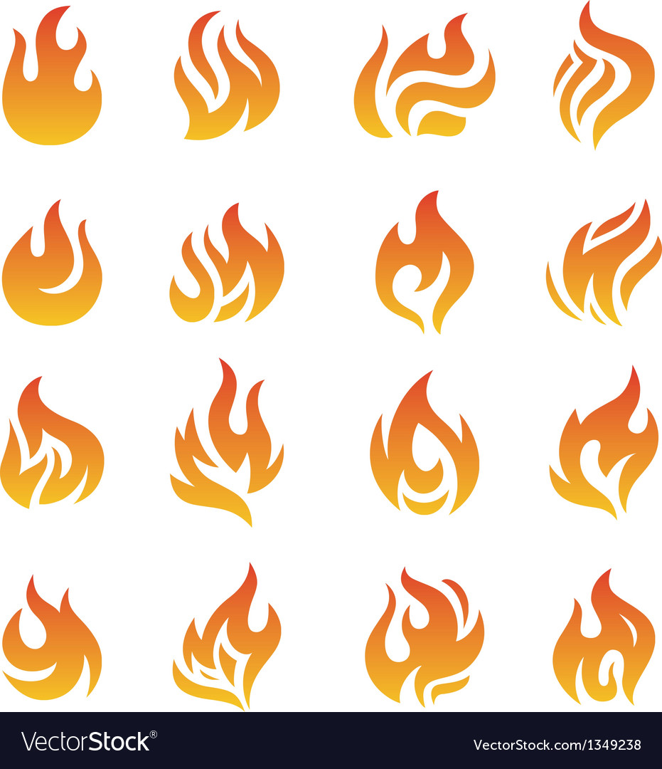 Fire flames vector | Price: 1 Credit (USD $1)