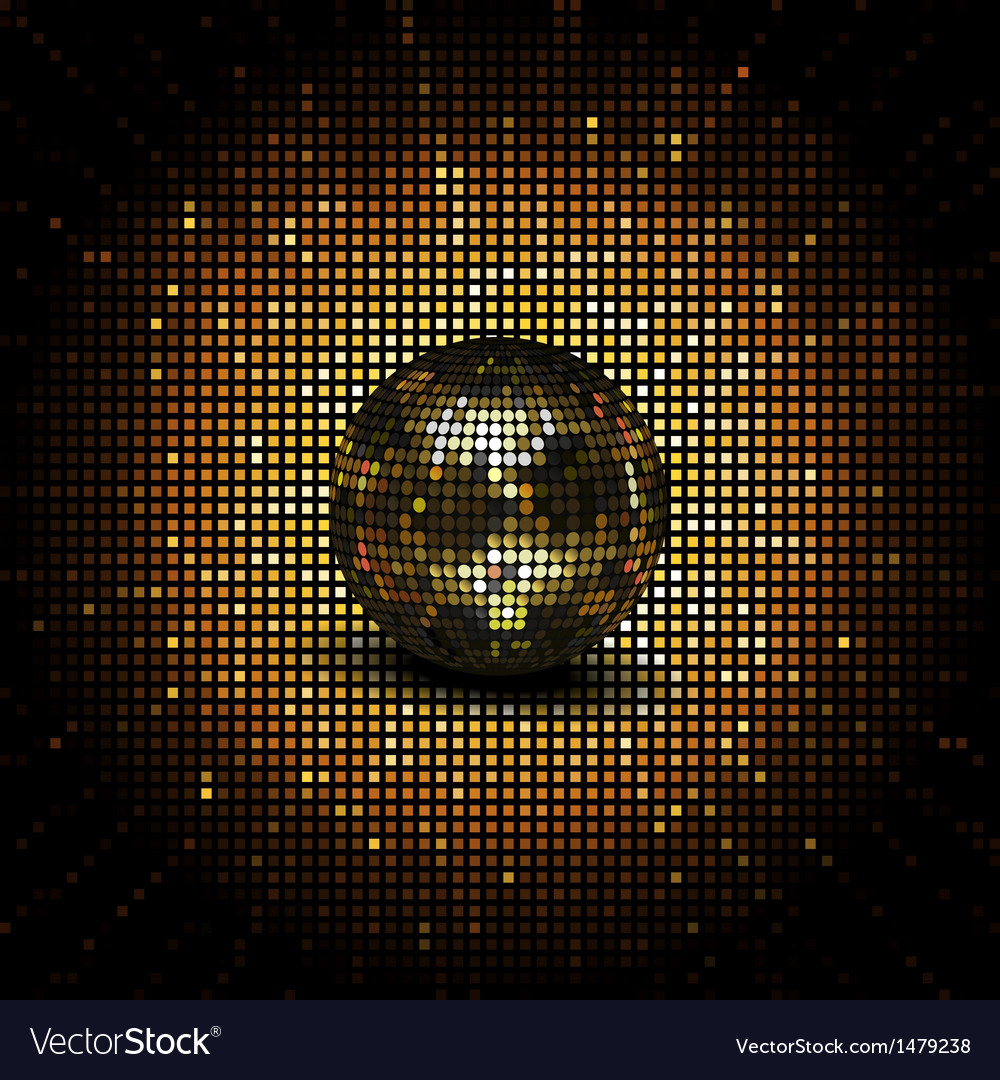 Gold reflective disco ball vector | Price: 1 Credit (USD $1)