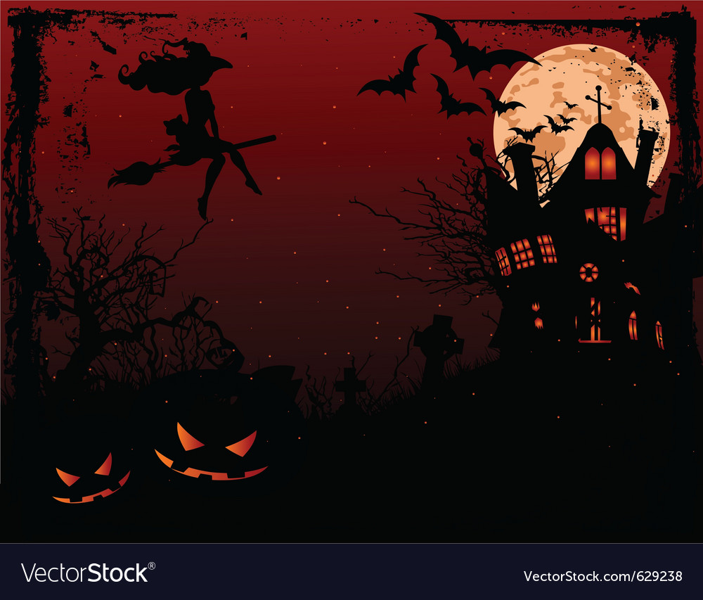 Halloween haunted house vector | Price: 1 Credit (USD $1)