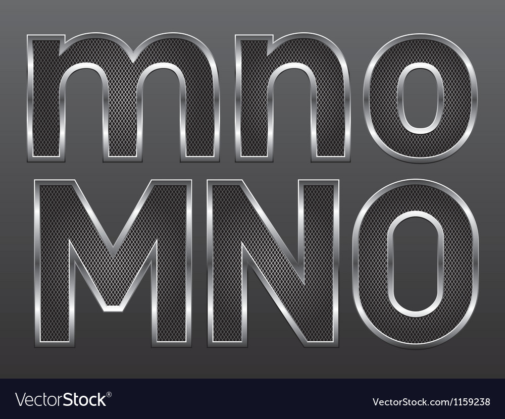 Metal letters big and small 05 vector | Price: 1 Credit (USD $1)