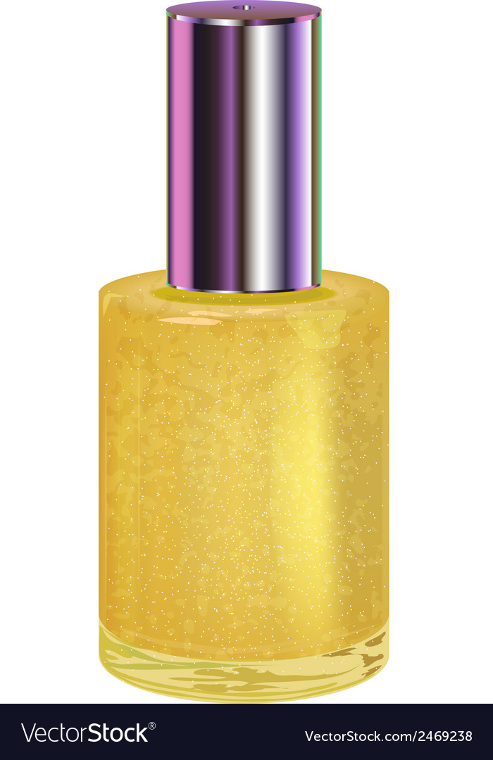 Nail polish with silver cap object vector   Price: 1 Credit (USD $1)