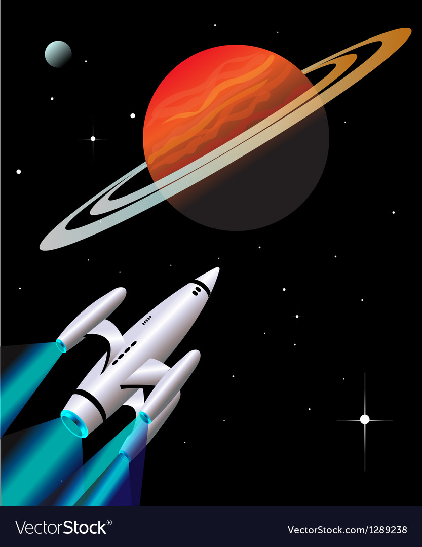 Rocket ship vector | Price: 1 Credit (USD $1)