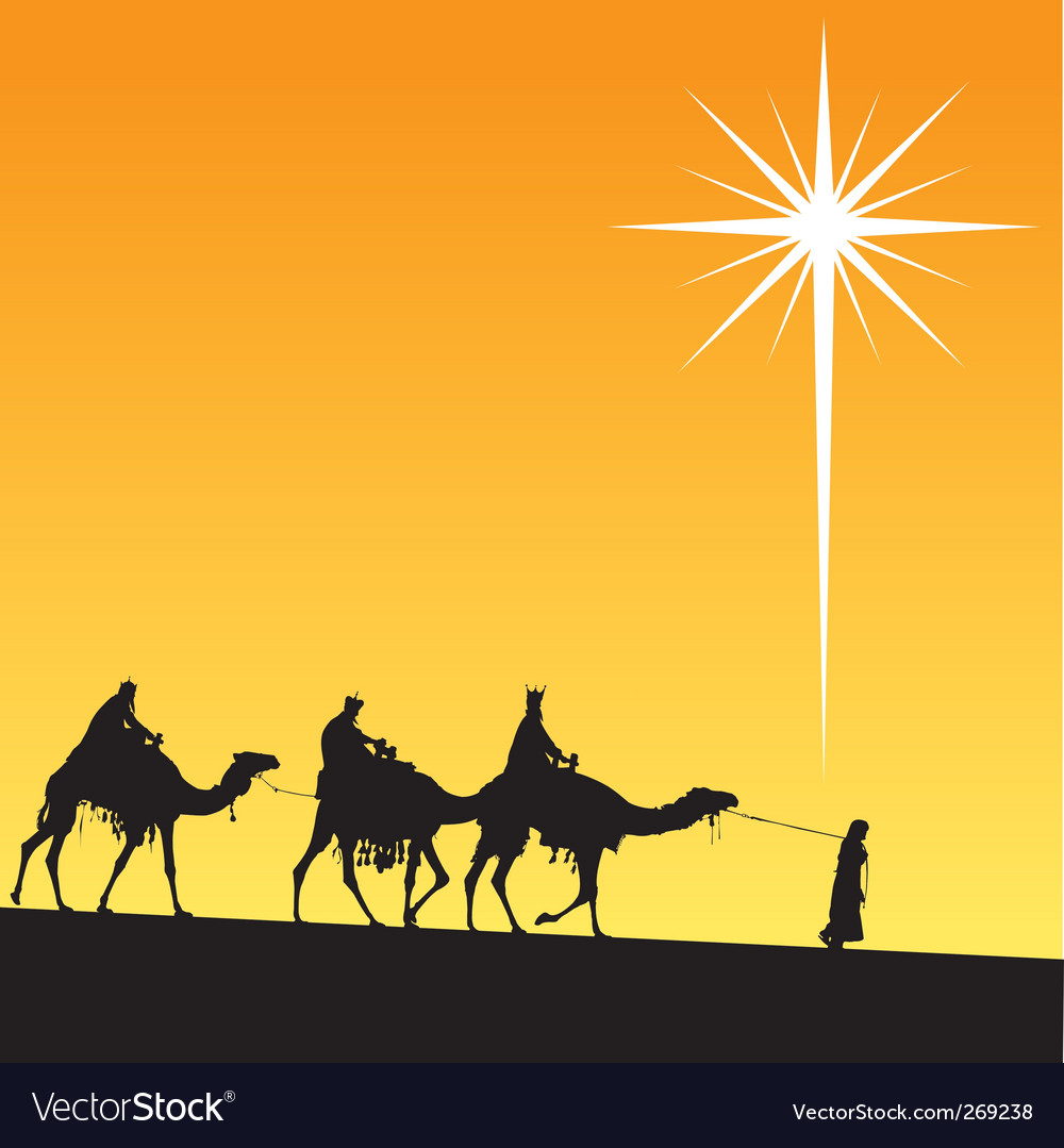 Shining star of bethlehem vector | Price: 1 Credit (USD $1)