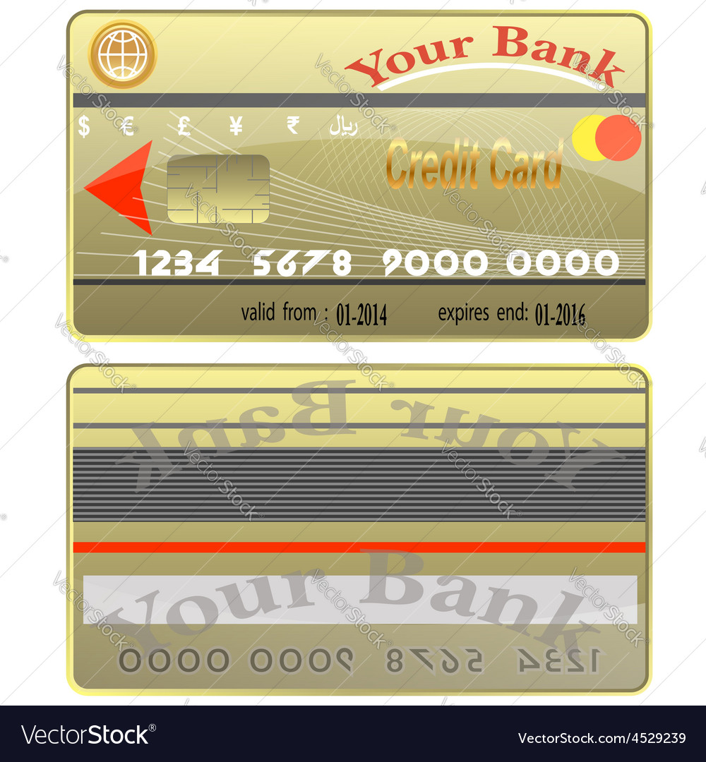 Bank card credit world stack colour bank finance p vector | Price: 1 Credit (USD $1)