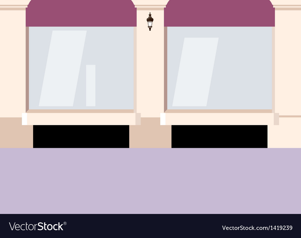 City shopfront background vector | Price: 1 Credit (USD $1)