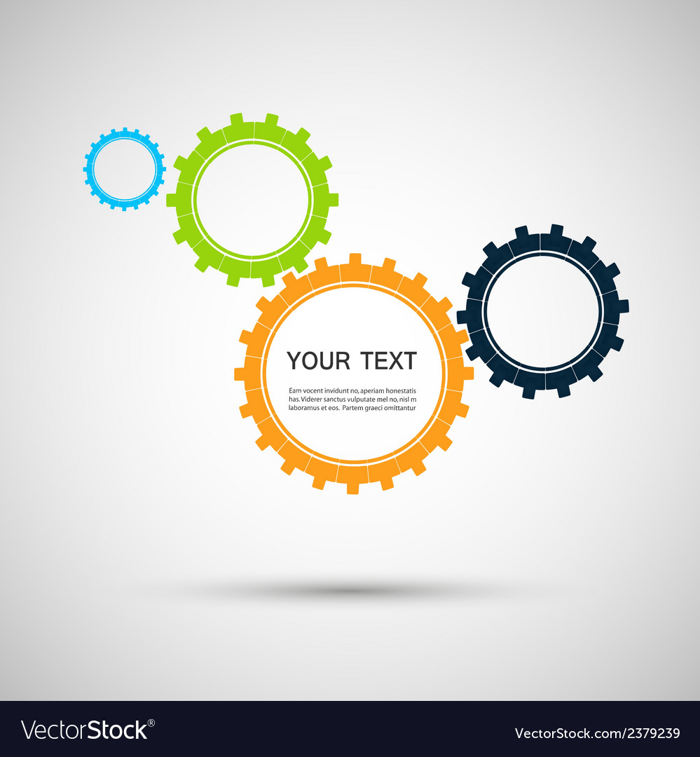 Color design concept gears vector | Price: 1 Credit (USD $1)