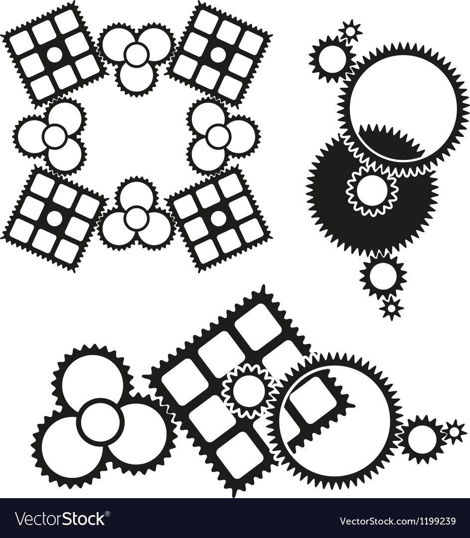Gears icon vector | Price: 1 Credit (USD $1)