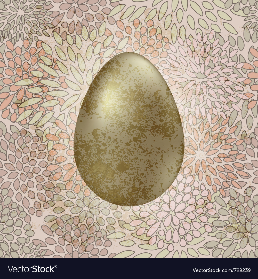 Golden easter egg vector | Price: 1 Credit (USD $1)