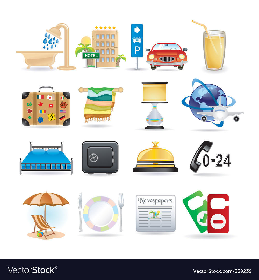 Hotel icons vector | Price: 3 Credit (USD $3)
