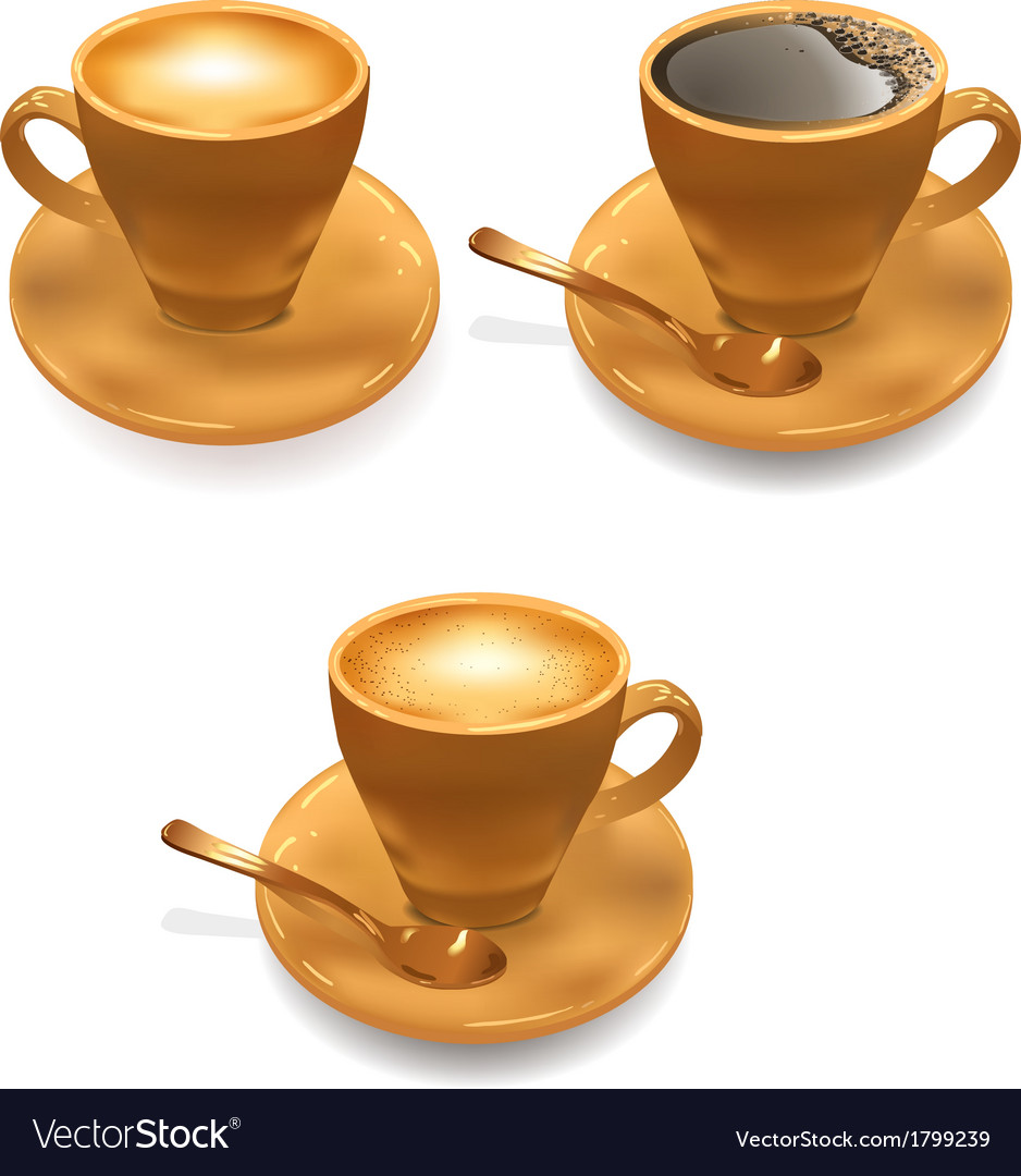 Ice cream and cup of coffee vector | Price: 1 Credit (USD $1)