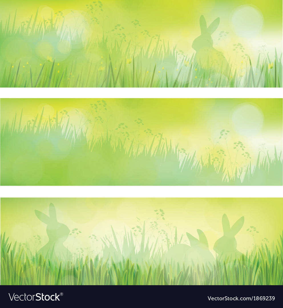 Rabbit banners vector | Price: 1 Credit (USD $1)