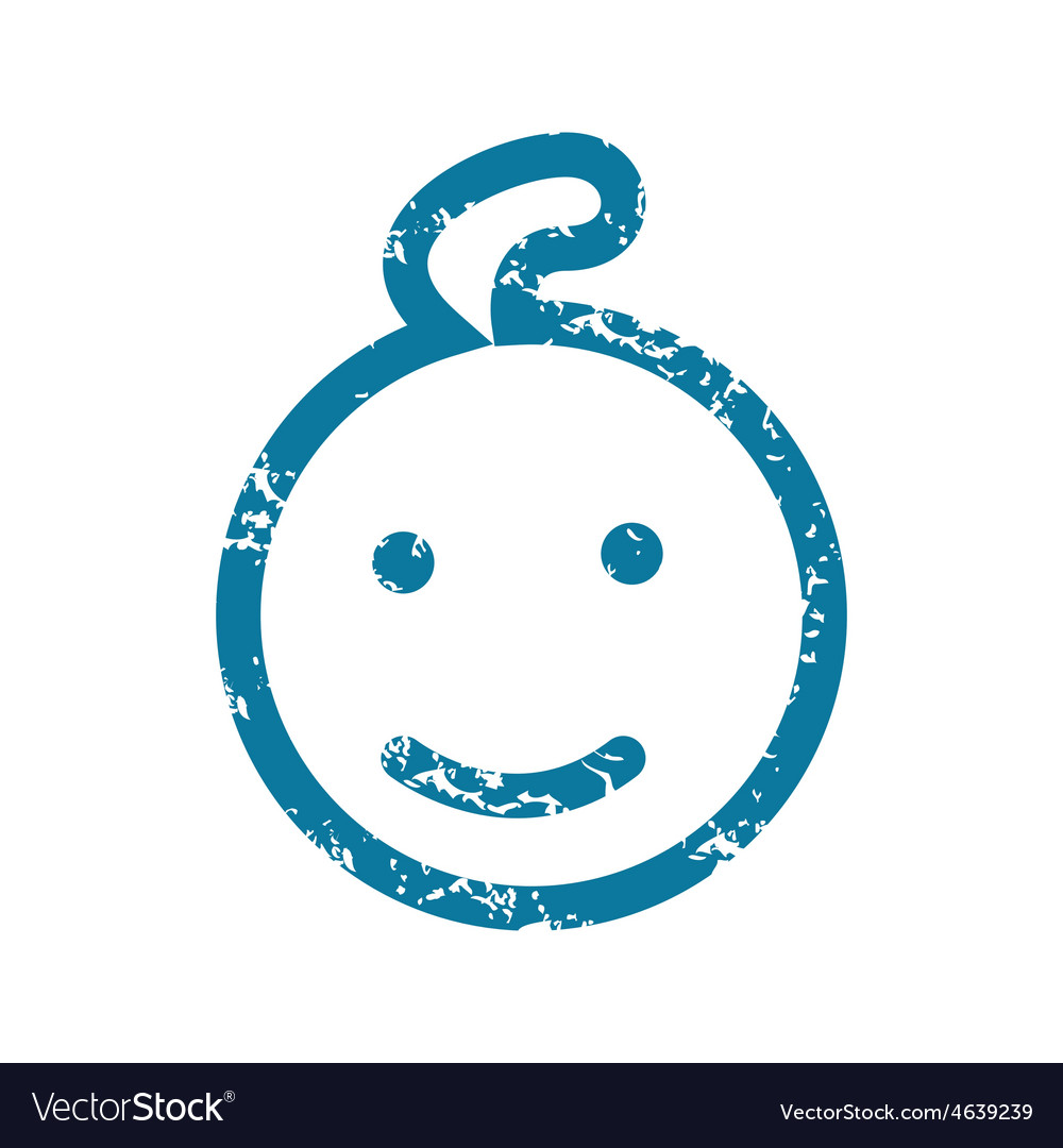 Smiling kid grunge icon vector | Price: 1 Credit (USD $1)
