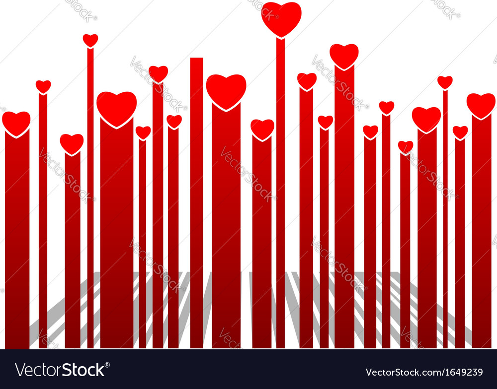 Valentine bar code vector | Price: 1 Credit (USD $1)