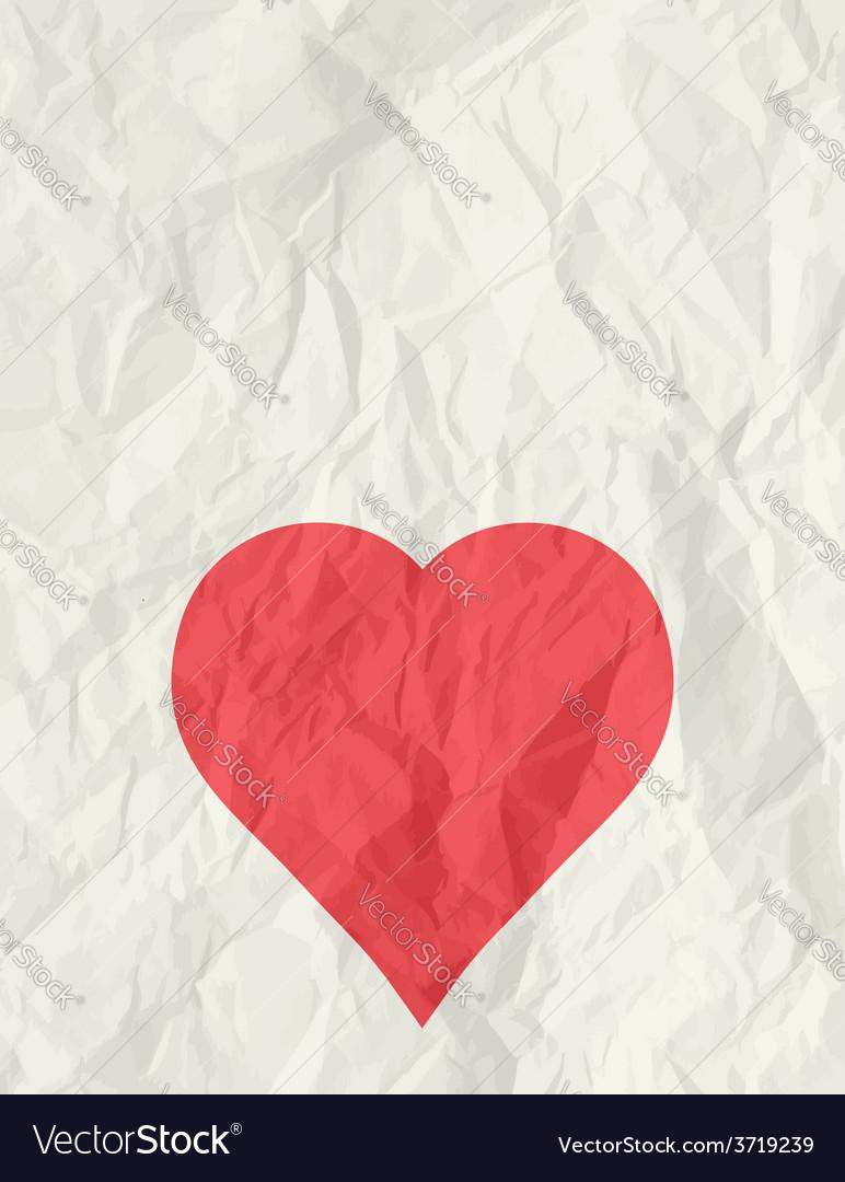 Valentine red heart over beige background vector | Price: 1 Credit (USD $1)