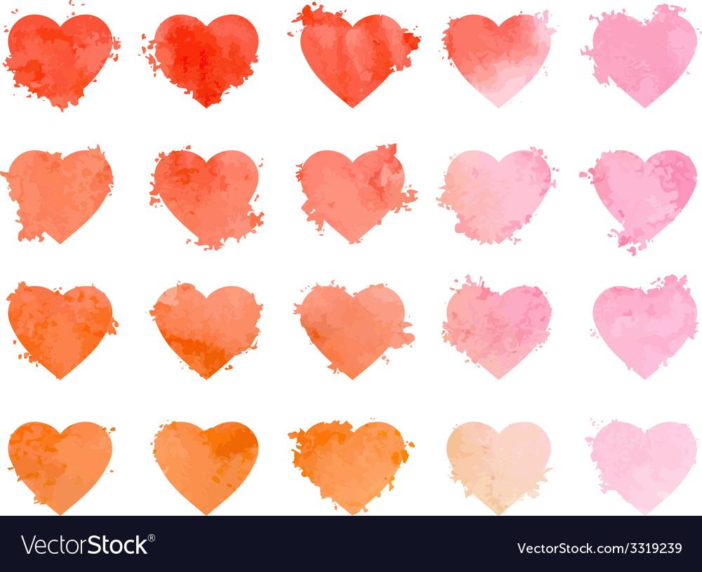 Watercolor hearts vector | Price: 1 Credit (USD $1)