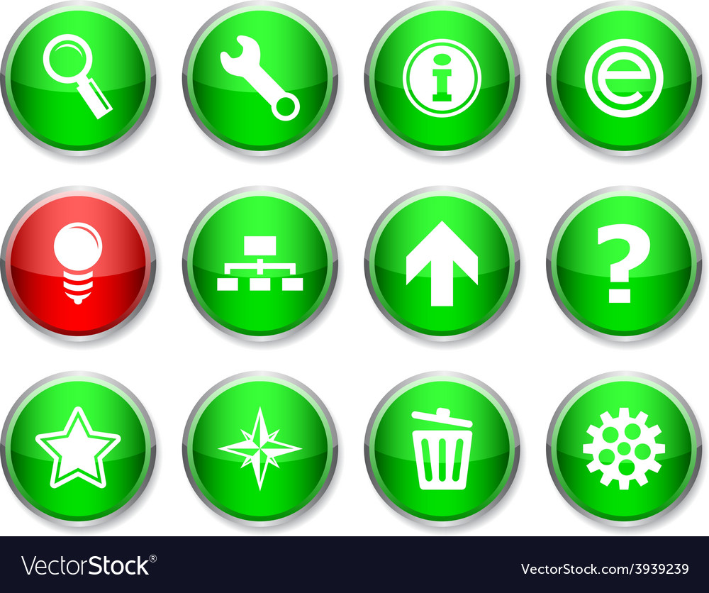 Web round icons vector | Price: 1 Credit (USD $1)