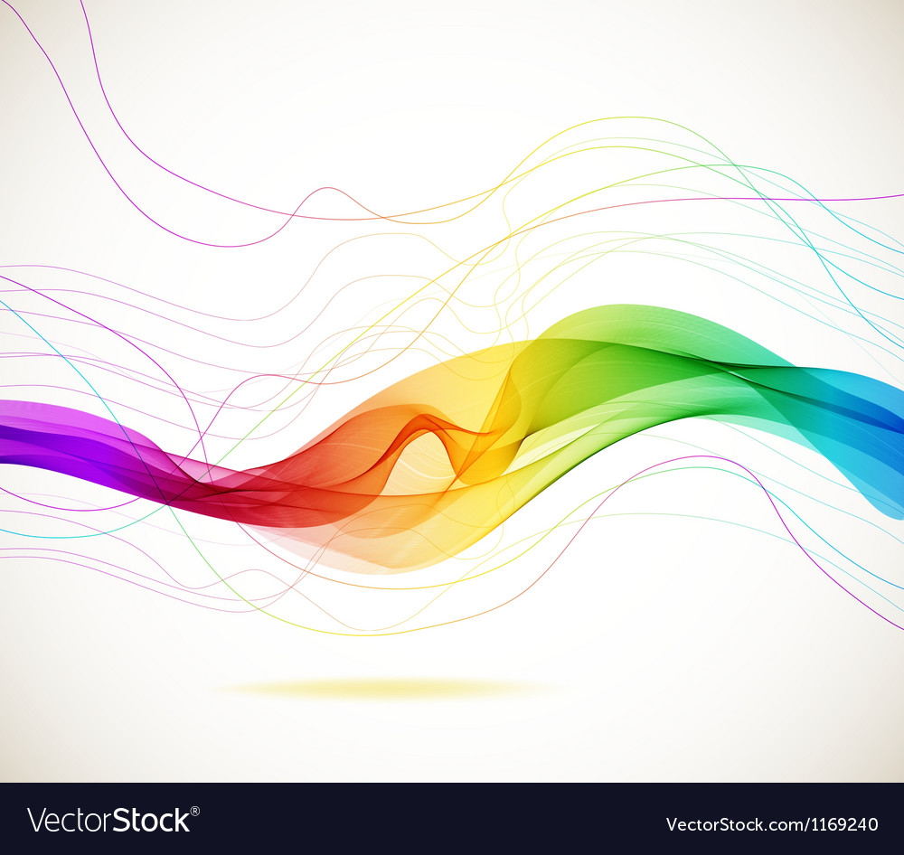 Abstract color wave vector | Price: 1 Credit (USD $1)