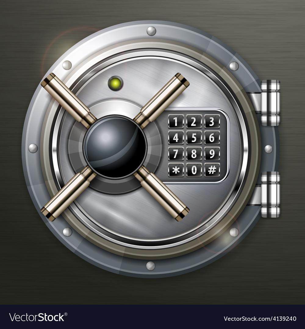 Bank vault on dark vector | Price: 3 Credit (USD $3)