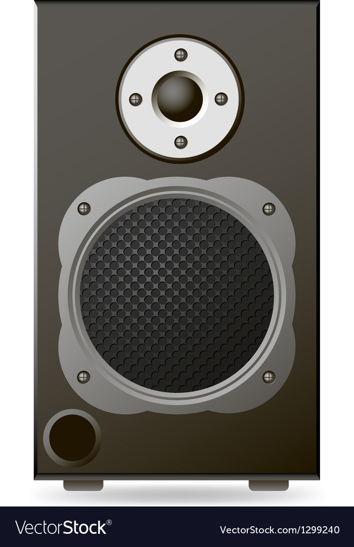 Black audio speaker vector | Price: 1 Credit (USD $1)