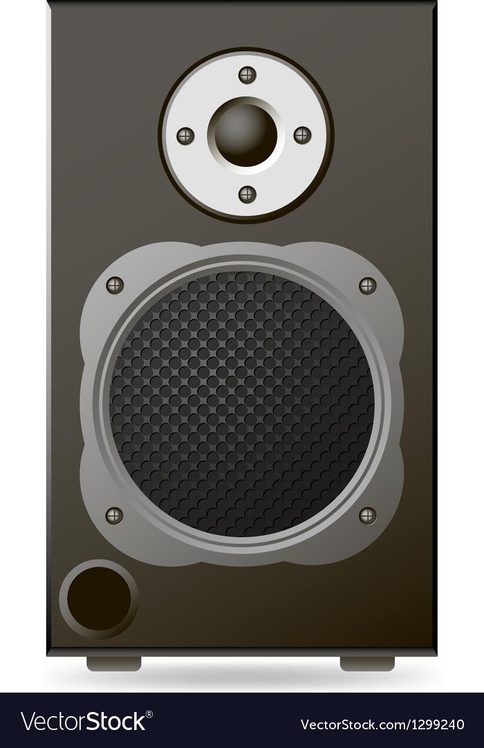 Black audio speaker vector | Price: 1 Credit (USD $1)