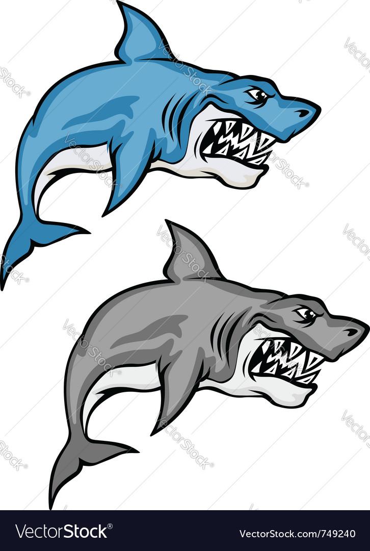 Cartoon shark set vector | Price: 1 Credit (USD $1)