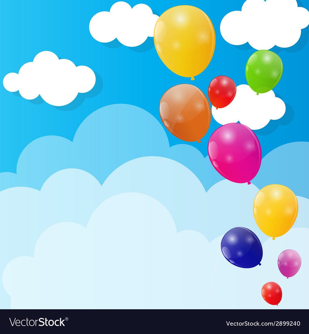 Color glossy balloons background vector   Price: 1 Credit (USD $1)
