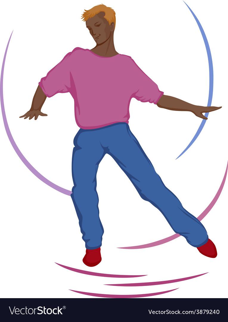 Dancing guy vector | Price: 1 Credit (USD $1)