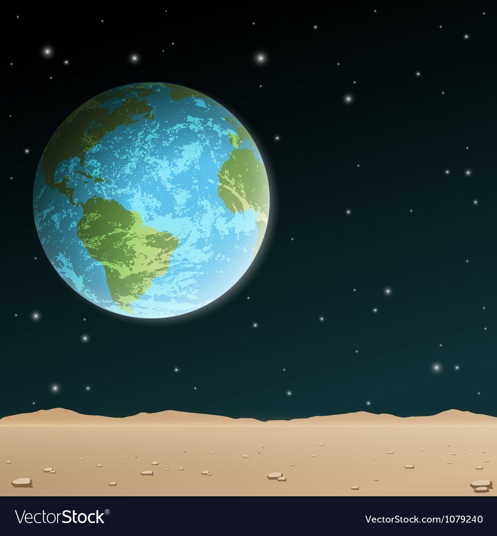 Earth rise vector | Price: 1 Credit (USD $1)