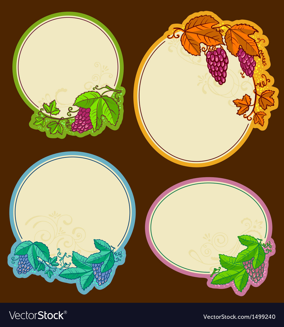 Grape frames vector | Price: 1 Credit (USD $1)