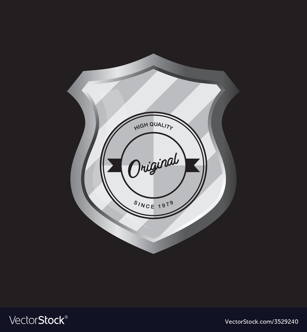 Insignia shield product label art vector | Price: 1 Credit (USD $1)