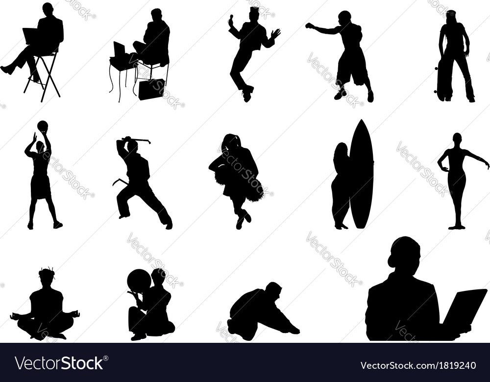 People silhouette - 04 vector | Price: 1 Credit (USD $1)