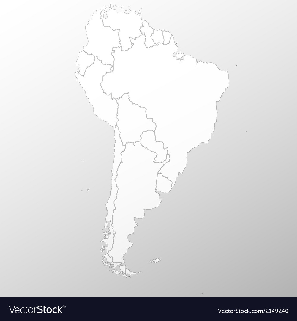 South america map background vector | Price: 1 Credit (USD $1)
