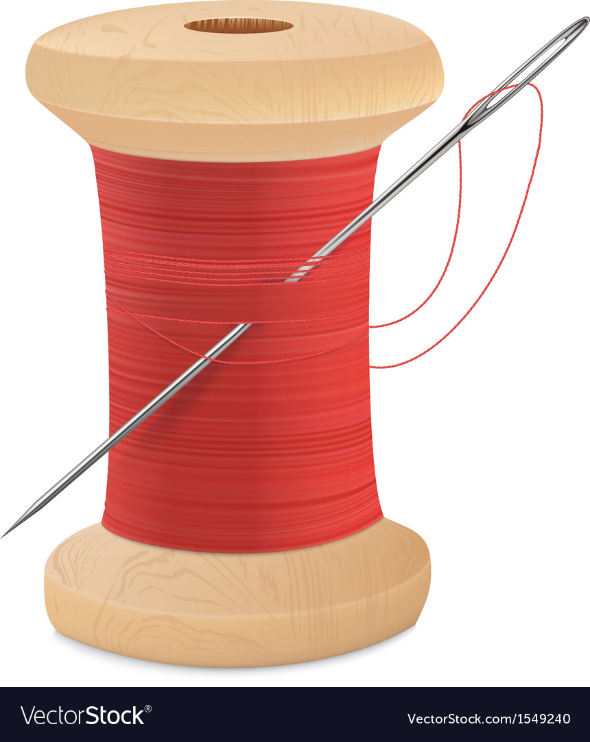 Spool thread needle vector | Price: 1 Credit (USD $1)