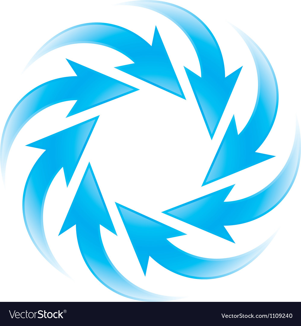 Turning blue arrows vector | Price: 1 Credit (USD $1)