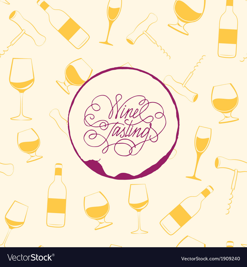 Wine drops over text paper background vector | Price: 1 Credit (USD $1)