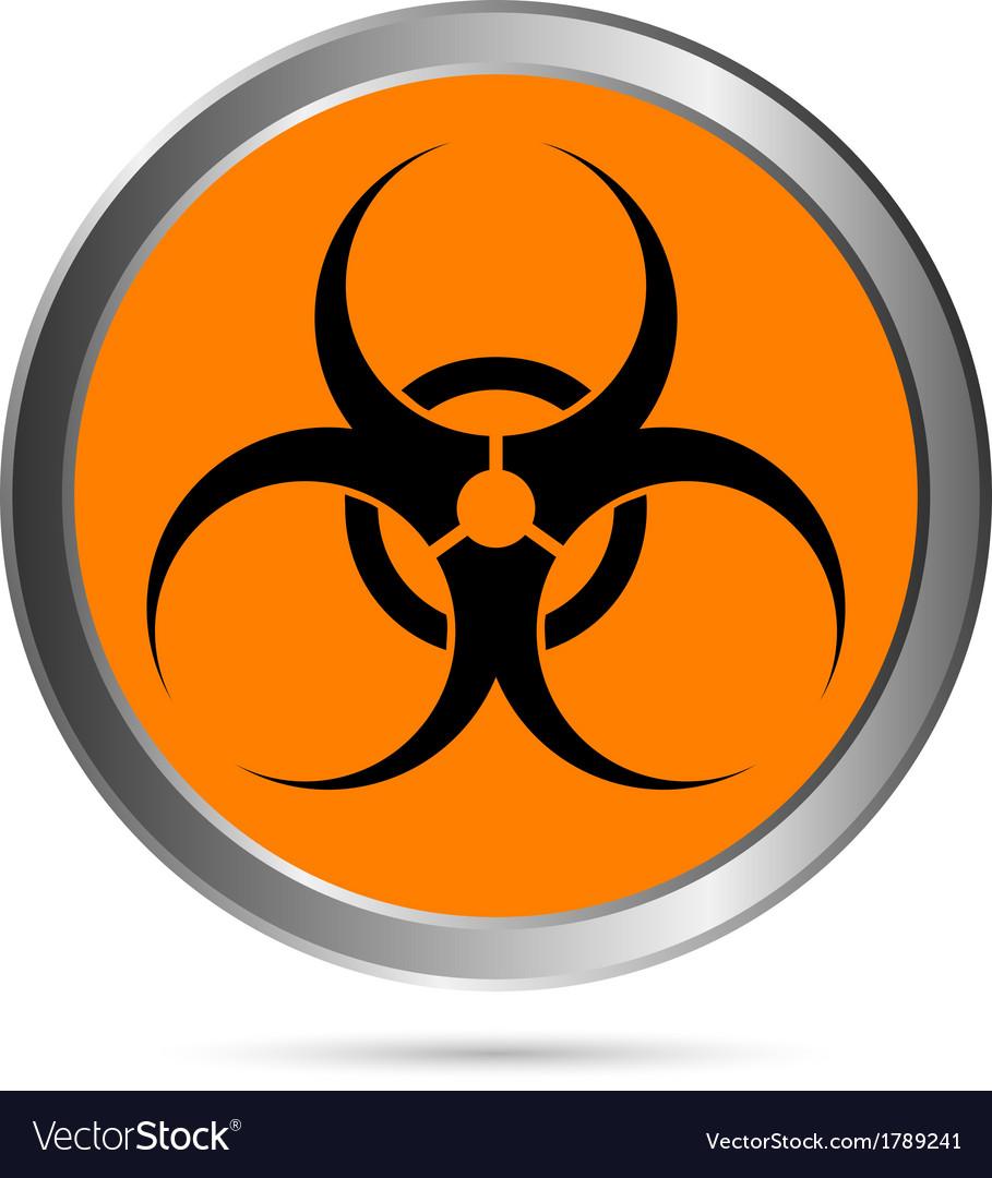 Biohazard sign button vector | Price: 1 Credit (USD $1)