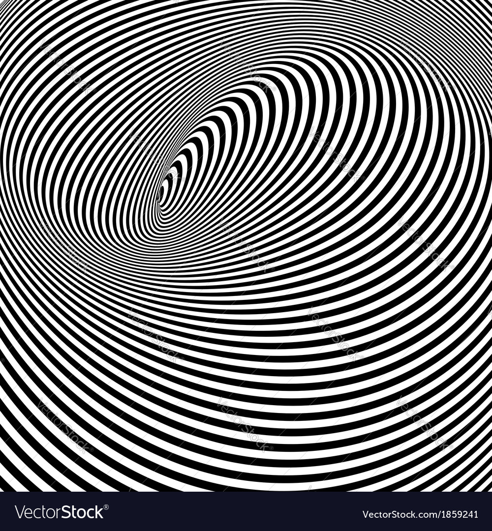 Black and white opt art background vector | Price: 1 Credit (USD $1)