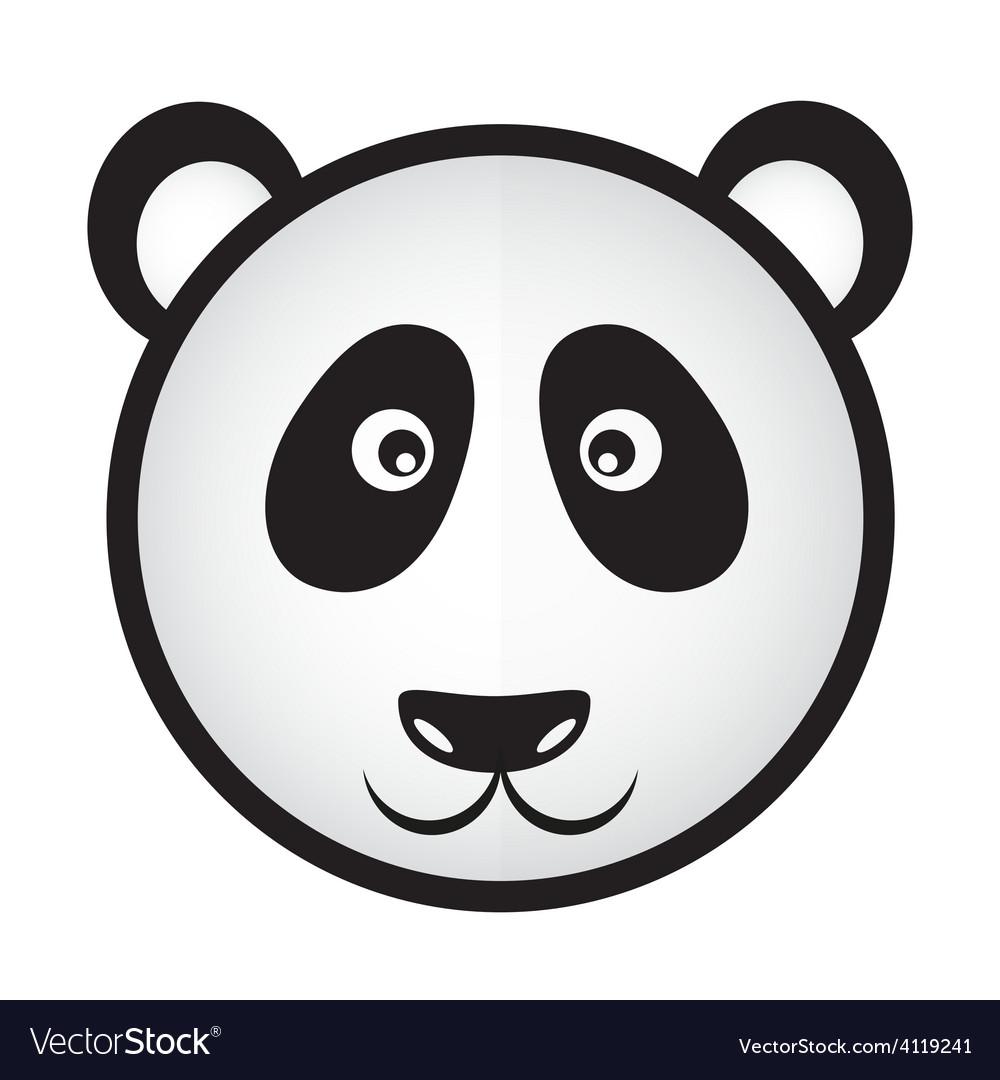 Black and white panda bear head eps10 vector   Price: 1 Credit (USD $1)