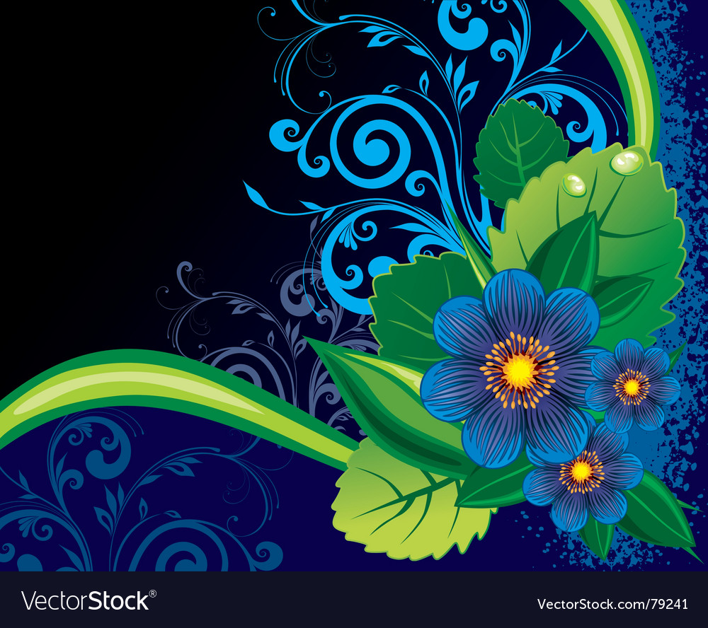 Floral backgorund vector | Price: 1 Credit (USD $1)