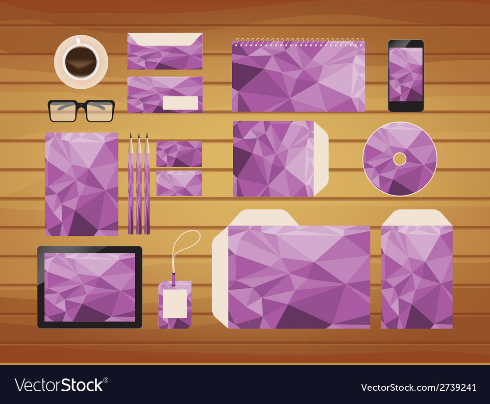 Geometric purple brand identity business style vector | Price: 1 Credit (USD $1)
