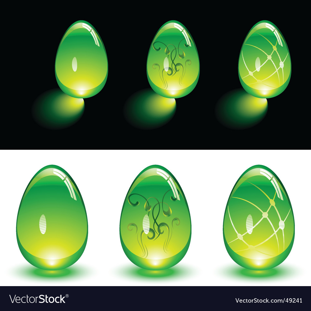 Glass eggs vector | Price: 1 Credit (USD $1)