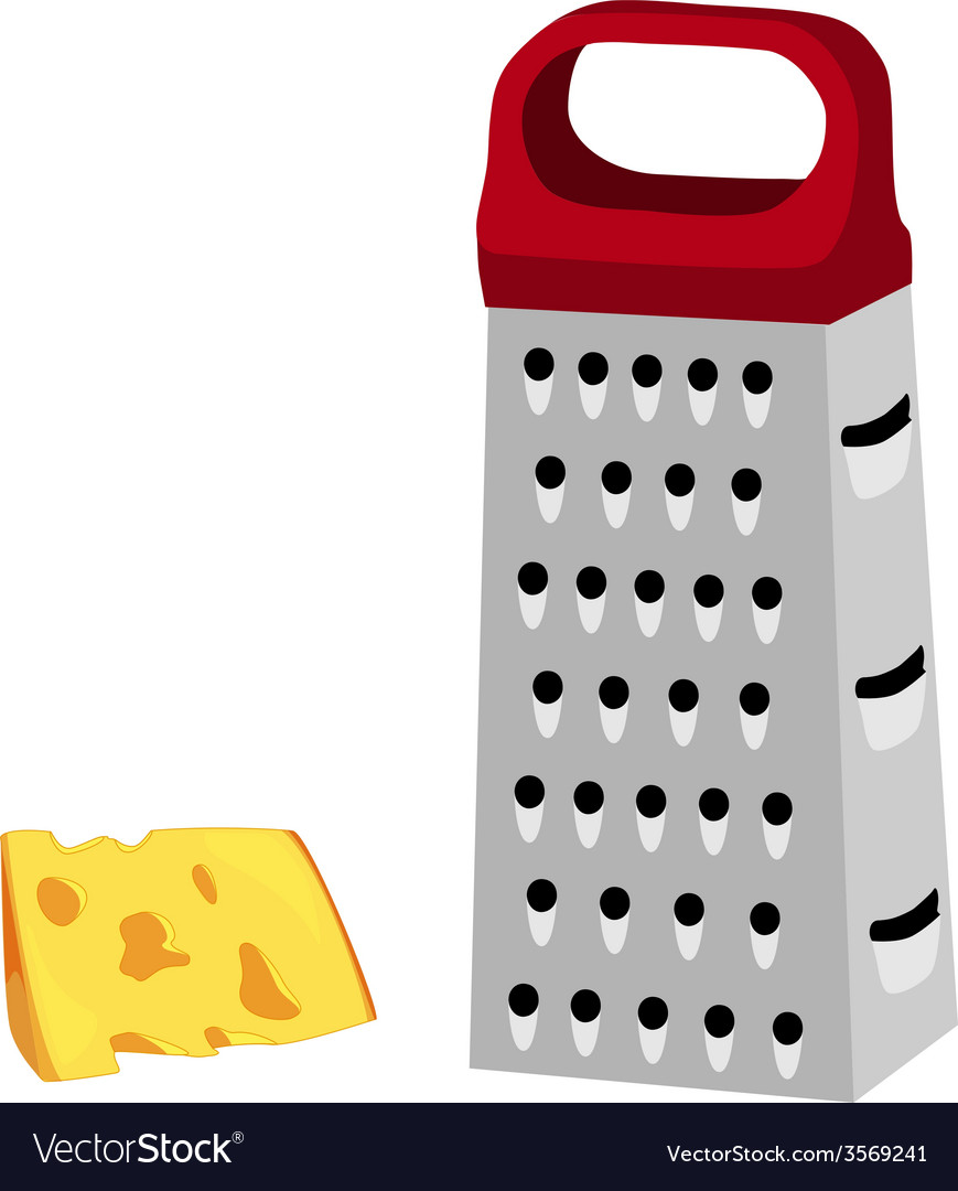Grater with red handle and cheese vector | Price: 1 Credit (USD $1)