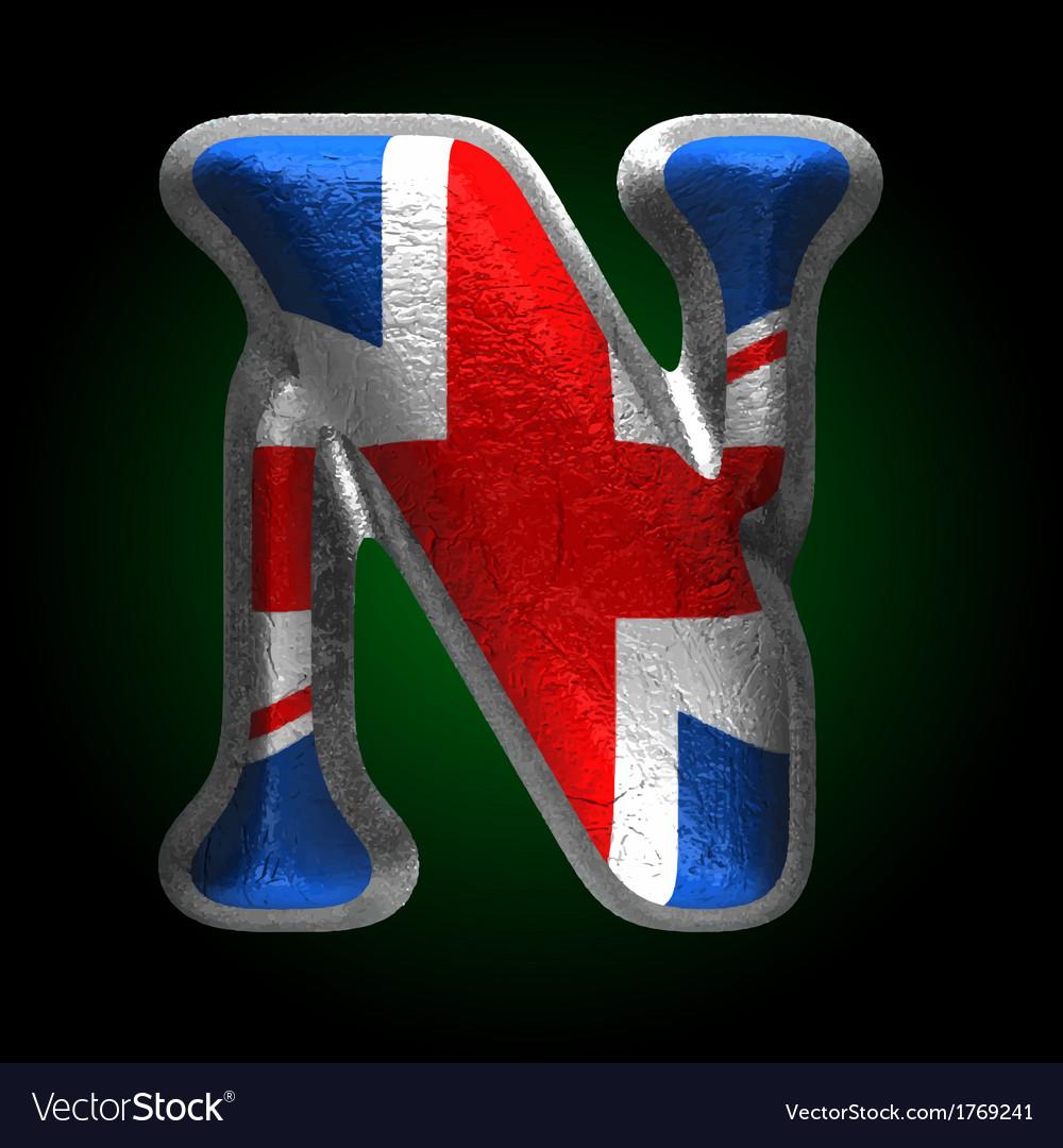 Great britain metal figure n vector | Price: 1 Credit (USD $1)